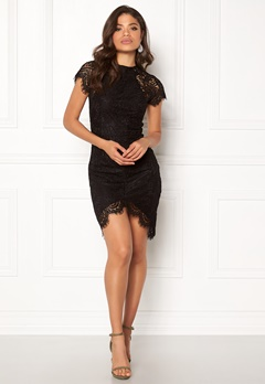 Girl In Mind Francis Lace Dress Black Bubbleroom.no
