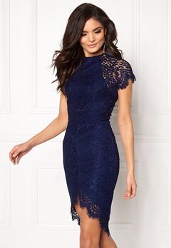 Girl In Mind Francis Lace Dress Navy Bubbleroom.no
