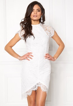 Girl In Mind Francis Lace Dress White Bubbleroom.no
