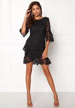 Girl In Mind Frill Mini Dress Black Bubbleroom.no