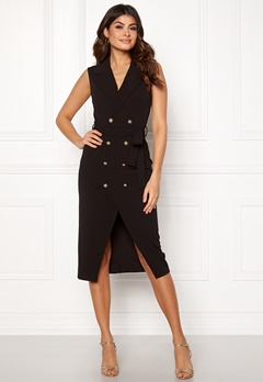 Girl In Mind Grace Blazer Midi Dress Blk Bubbleroom.no