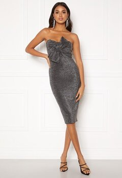 Girl In Mind Kendal Lurex Dress Silver Bubbleroom.no