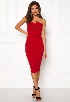 Girl In Mind Kendall Dress Red Bubbleroom.no
