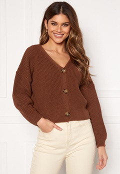 Girl In Mind Kiera Relaxed Fit Cardigan Rust Rust Bubbleroom.no