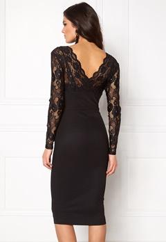 Girl In Mind Lace Bodycon Dress Black Bubbleroom.no