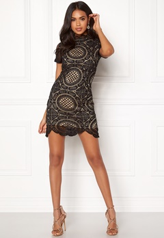 Girl In Mind Lace Dress Black Bubbleroom.no