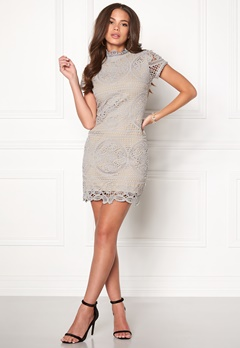 Girl In Mind Lace Dress Grey Bubbleroom.no