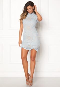 Girl In Mind Lace Dress Light Blue Bubbleroom.no