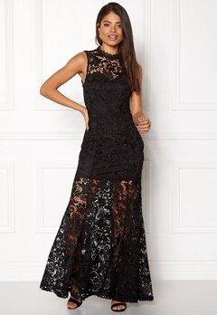 Girl In Mind Lace Maxi Dress Black Bubbleroom.no