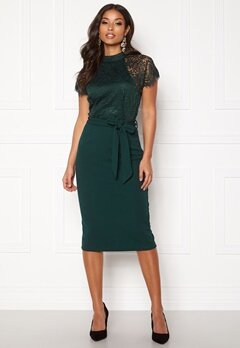 Girl In Mind Lyla High Neck Lace Dress Green Bubbleroom.no