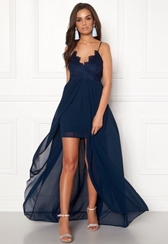 Girl In Mind Maddie Lace Maxi Dress Navy Bubbleroom.no