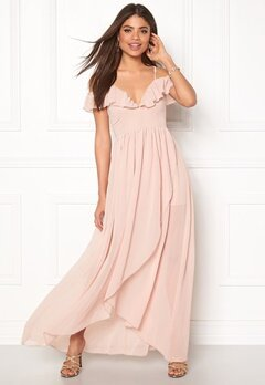 Girl In Mind Maxi Flow Dress Light Pink Bubbleroom.no