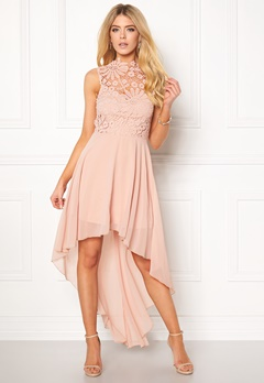 Girl In Mind Midi Lace Dress Pink Bubbleroom.no