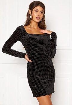 Girl In Mind Naomi Silver Dot Dress Black Bubbleroom.no