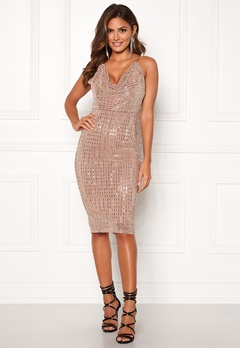 Girl In Mind Sam Sequin Mini Dress Nude Bubbleroom.no