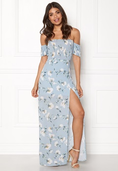 Girl In Mind Skylar Bardot Maxi Dress Flower Bubbleroom.no