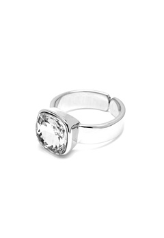 BY JOLIMA Glam Crystal Ring Crystal Silver Bubbleroom.no