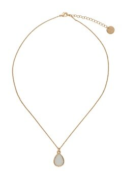 BY JOLIMA Glam Drop Necklace Milky White Gold Bubbleroom.no