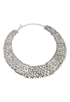 Love Rocks Glamour Crystal Collar Silver Colour Bubbleroom.no