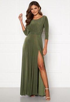 Goddiva Elegant Maxi Dress Olive Bubbleroom.no