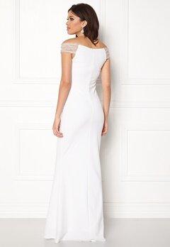 Goddiva Embellished Maxi Dress White Bubbleroom.no
