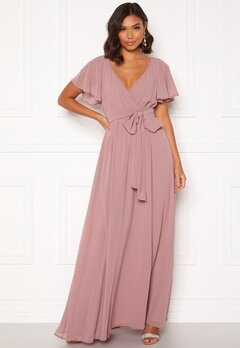 Goddiva Flutter Chiffon Dress Lavender Bubbleroom.no