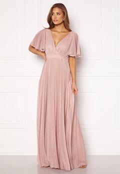 Goddiva Flutter Glitter Dress Blush Bubbleroom.no