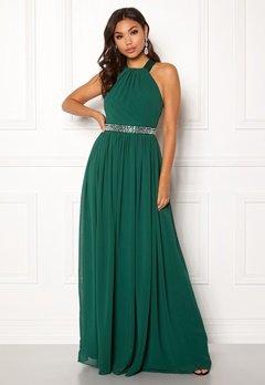 Goddiva Halterneck Chiffon Maxi Dress Green Bubbleroom.no