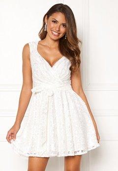 Goddiva Lace Skater Dress White Bubbleroom.no