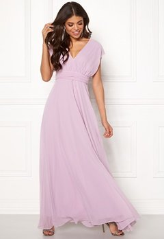 Goddiva Multi Tie Chiffon Dress Iris Bubbleroom.no