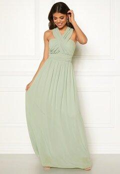 Goddiva Multi Tie Chiffon Dress Sage Green Bubbleroom.no
