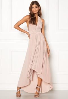 Goddiva Multi Tie High Low Dress Latte Bubbleroom.no