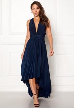 Goddiva Multi Tie High Low Dress Navy Bubbleroom.no