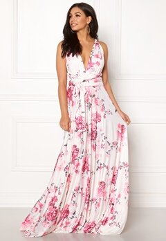 Goddiva Multi Tie Maxi Dress Floral Print Bubbleroom.no