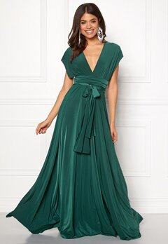 Goddiva Multi Tie Maxi Dress Green Bubbleroom.no