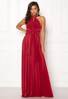 Goddiva Multi Tie Maxi Dress Red Bubbleroom.no