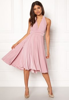Goddiva Multi Tie Midi Dress Dusty Pink Bubbleroom.no