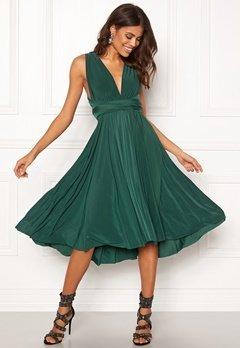 Goddiva Multi Tie Midi Dress Green Bubbleroom.no