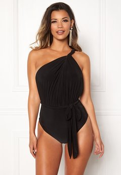 Goddiva Multi Tie Swimsuit Black Bubbleroom.no