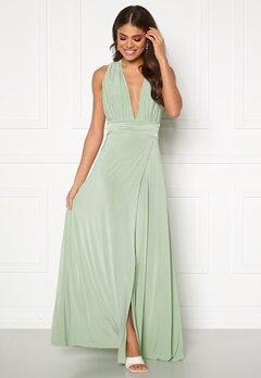 Goddiva Multi Tie Wrap Maxi Dress Dusty Green Bubbleroom.no
