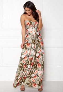 Goddiva Resort Bandeau Maxi Dress Tropical Print Bubbleroom.no