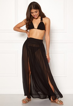 Goddiva Resort Kendra Split Maxi Skirt Black Bubbleroom.no
