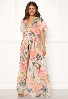 Goddiva Resort Maxi Kaftan Palm Print Bubbleroom.no