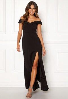 Goddiva Sweetheart Maxi Dress Black Bubbleroom.no