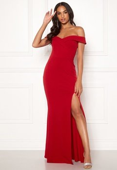 Goddiva Sweetheart Maxi Dress Red Bubbleroom.no