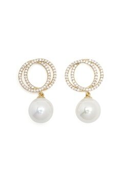 SNÖ of Sweden Gracie Pendant Ear Gold/White Bubbleroom.no