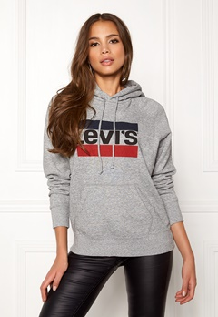 LEVI'S Graphic Sport Hoodie Batwing Smoke Bubbleroom.no