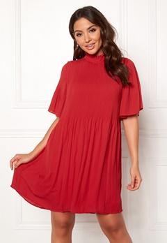 VERO MODA Gudrun 2/4 Short Dress Chinese Red Bubbleroom.no