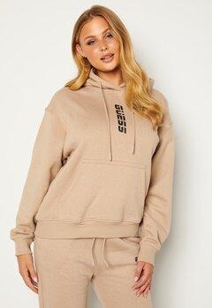 Guess Alisha Hooded Sweatshirt Gold Beige Bubbleroom.no