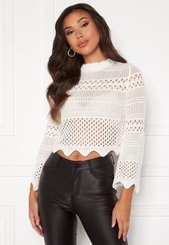Guess Annie RN LS Sweater TWHT True White A000 Bubbleroom.no